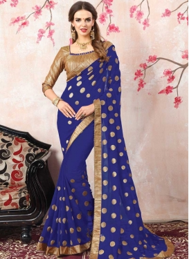 Faux Georgette Beads Work Traditional Designer Saree