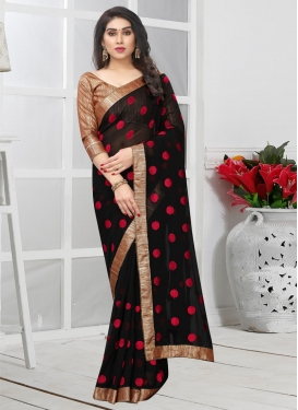 Faux Georgette Beads Work Trendy Classic Saree