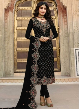 Faux Georgette Churidar Salwar Suit For Ceremonial