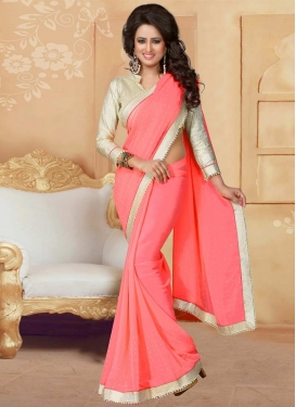 Faux Georgette Contemporary Style Saree For Festival