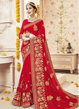 Faux Georgette Designer Contemporary Style Saree