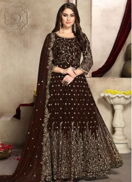 Faux Georgette Designer Floor Length Suit
