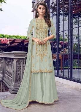 Faux Georgette Designer Palazzo Salwar Suit