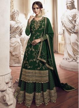 Faux Georgette Designer Palazzo Salwar Suit For Festival