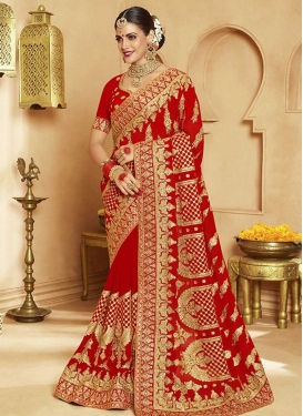 Faux Georgette Designer Traditional Saree For Bridal