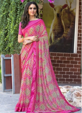 Faux Georgette Designer Traditional Saree For Casual