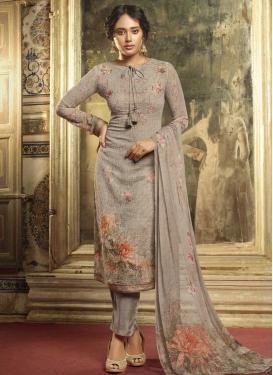 Faux Georgette Digital Print Work Pant Style Pakistani Salwar Kameez