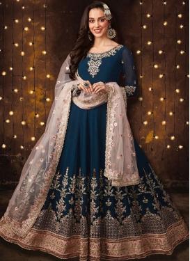Faux Georgette Embroidered Work Long Length Anarkali Salwar Suit
