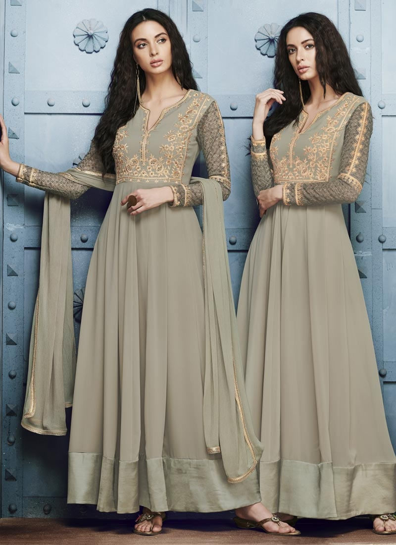 Faux Georgette Floor Length Anarkali Salwar Suit