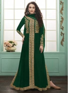 Faux Georgette Floor Length Designer Salwar Suit