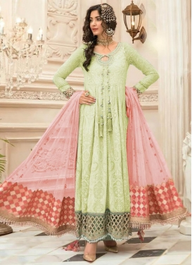 Faux Georgette Floor Length Salwar Kameez For Ceremonial