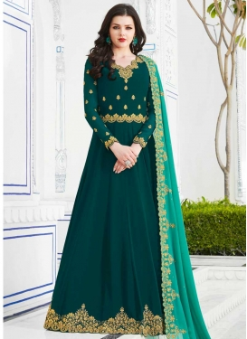 Faux Georgette Long Length Anarkali Salwar Suit