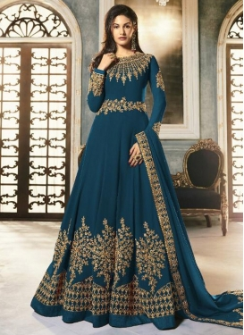 Faux Georgette Long Length Anarkali Salwar Suit For Festival