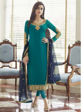 Faux Georgette Long Length Pakistani Salwar Suit
