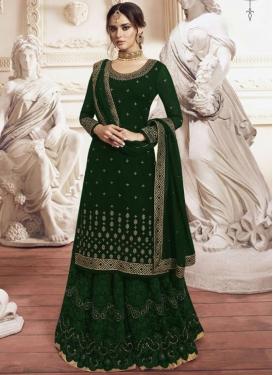 Faux Georgette Palazzo Designer Salwar Suit