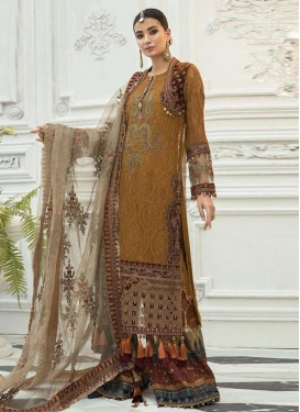 Faux Georgette Palazzo Style Pakistani Salwar Suit