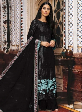 Faux Georgette Palazzo Style Pakistani Salwar Suit