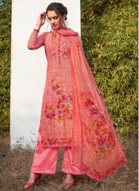 Faux Georgette Palazzo Style Pakistani Salwar Suit For Ceremonial