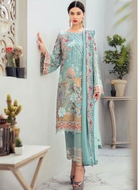 Faux Georgette Pant Style Classic Salwar Suit