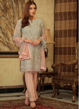 Faux Georgette Pant Style Designer Salwar Kameez For Ceremonial