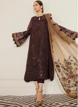 Faux Georgette Pant Style Pakistani Suit