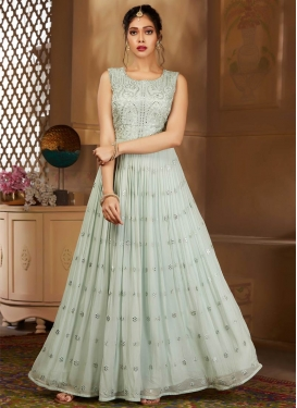Faux Georgette Readymade Anarkali Salwar Suit