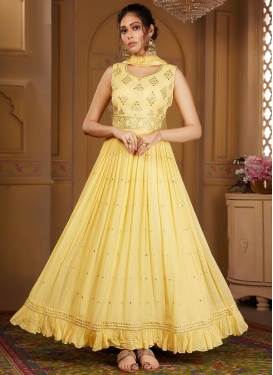Faux Georgette Readymade Anarkali Salwar Suit For Party