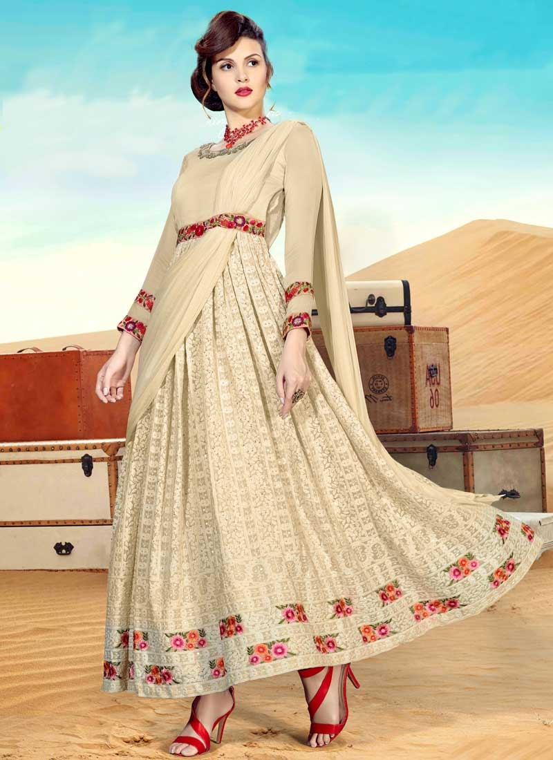 Faux Georgette Readymade Classic Gown