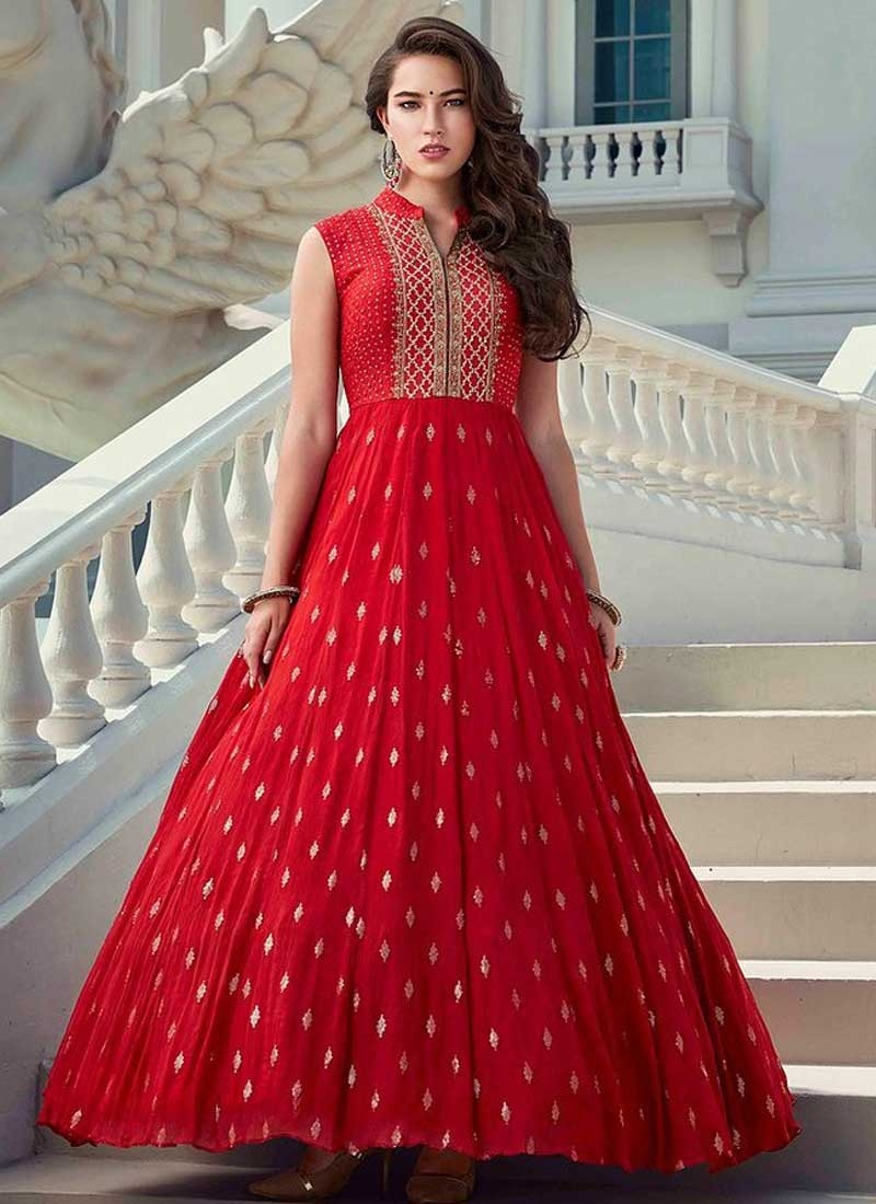 Faux Georgette Readymade Designer Gown