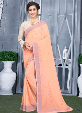 Faux Georgette Stone Work Designer Contemporary Saree