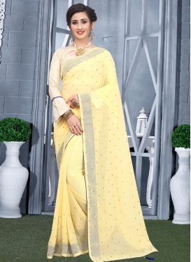 Faux Georgette Stone Work Designer Traditional Saree