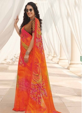 Faux Georgette Traditional Designer Saree
