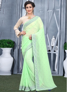 Faux Georgette Traditional Designer Saree For Casual