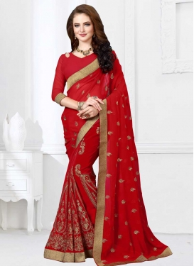 Faux Georgette Traditional Saree