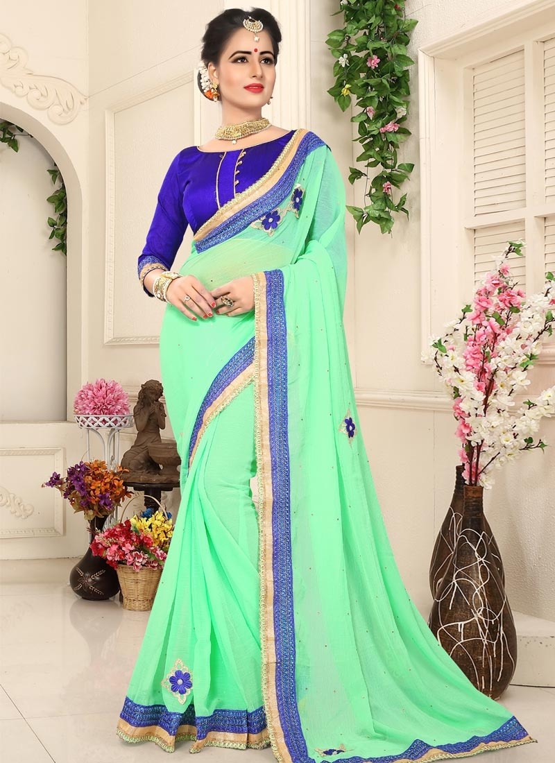 Faux Georgette Traditional Saree For Casual