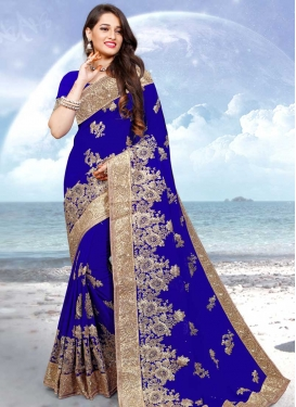 Faux Georgette Trendy Classic Saree