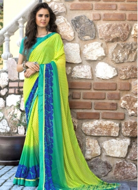 Faux Georgette Trendy Classic Saree For Casual