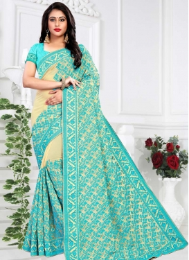Faux Georgette Trendy Classic Saree For Festival