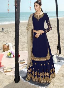 Faux Georgette Trendy Designer Salwar Suit