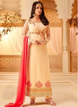 Faux Georgette Trendy Pakistani Salwar Kameez For Ceremonial