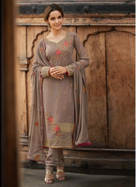 Faux Georgette Trendy Pakistani Salwar Kameez For Festival