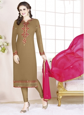 Faux Georgette Trendy Pakistani Suit