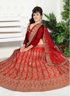 Festal Embroidered Satin Silk Trendy Designer Lehenga Choli
