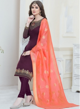 Festival Georgette Satin Trendy Churidar Suit