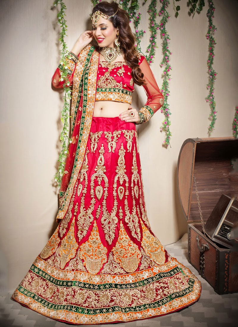 Fetching Net Wedding Designer Lehenga Choli