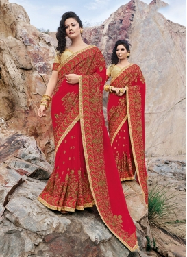 Fetching Resham And Lace Designer Saree