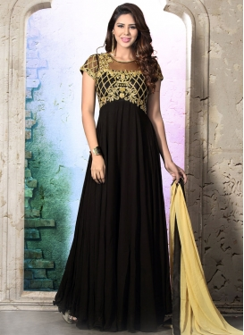 Fine Black Color Readymade Designer Salwar Kameez