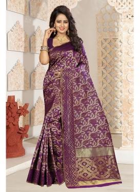Flamboyant Weaving Party Traditional Designer Saree