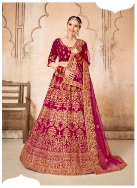 Flawless Embroidered A Line Lehenga Choli