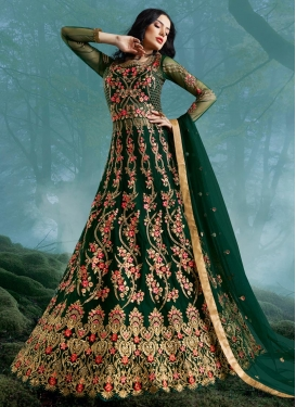 Floor Length Designer Suit For Bridal